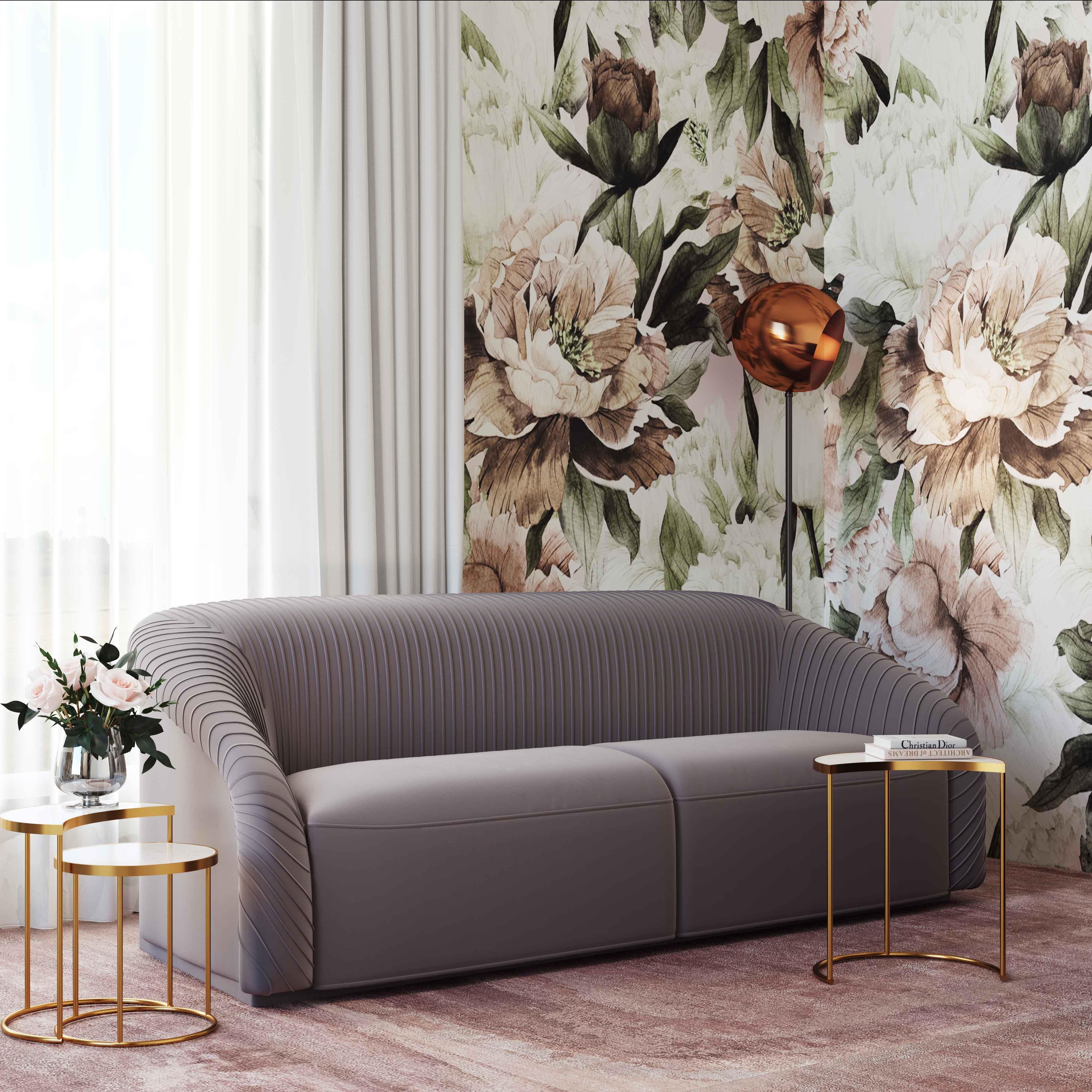 Pictures of Velvet Sofa Living Room