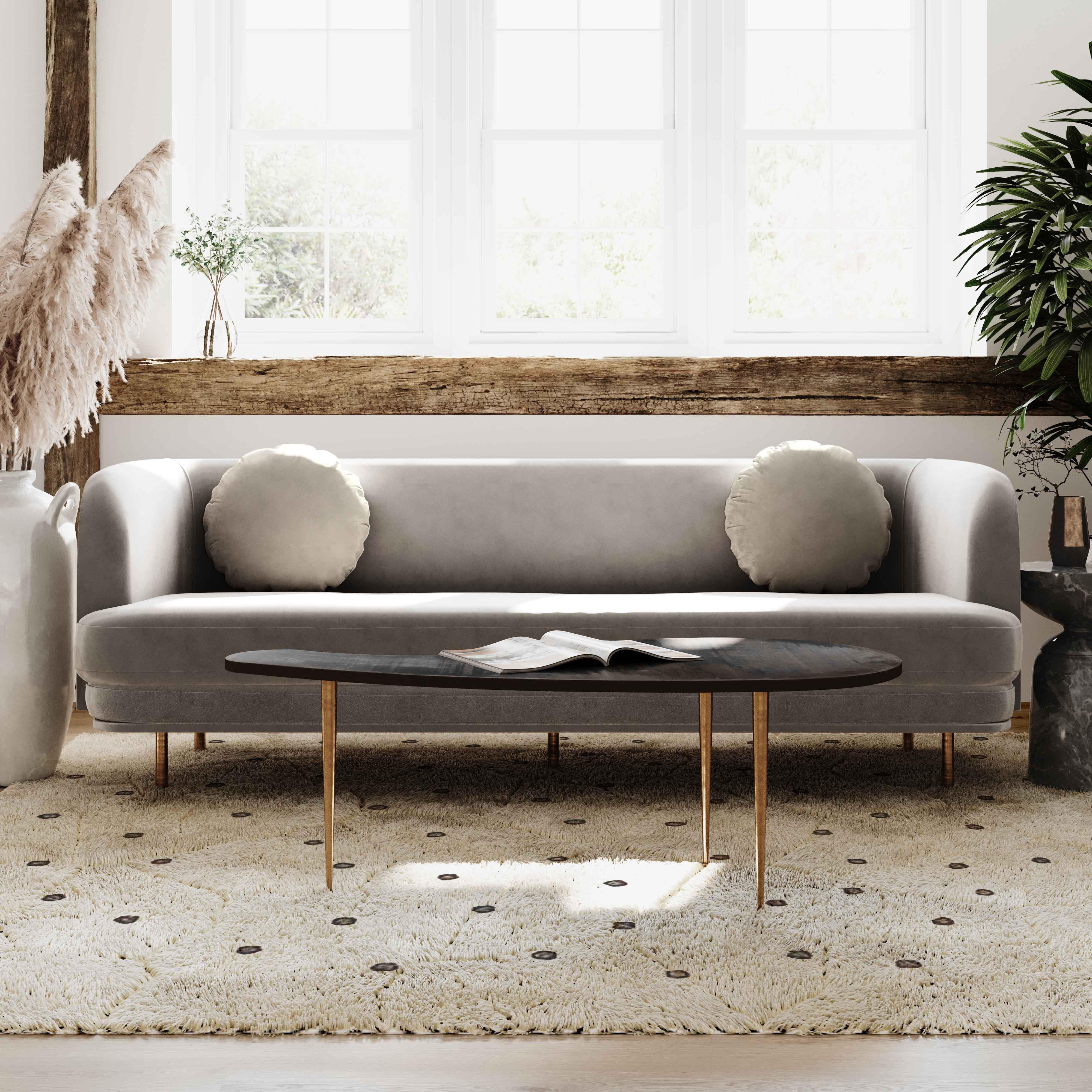image of Sariah Alabaster Velvet Sofa with sku:TOV-L68120