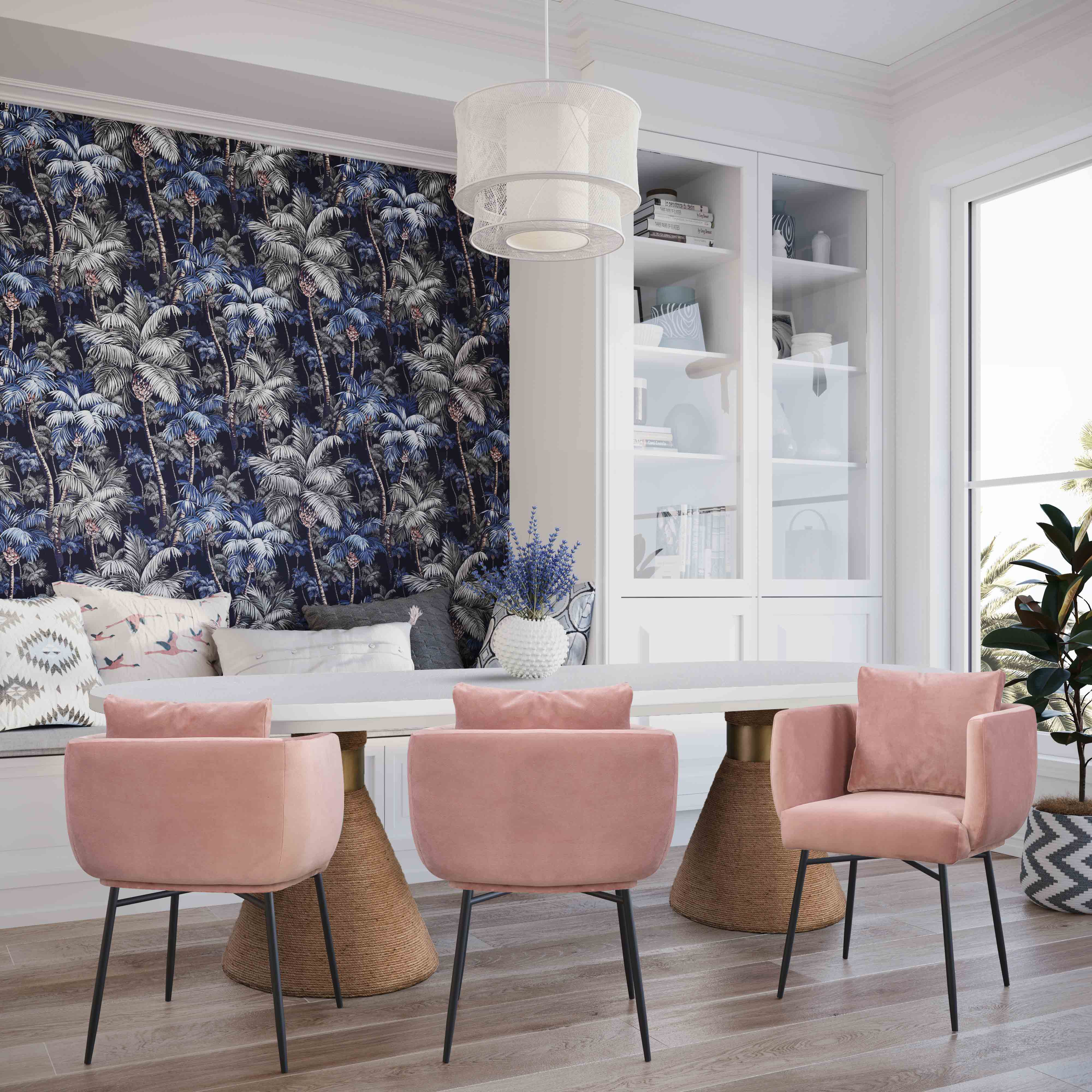 image of Alto Blush Velvet Dining Chair with sku:TOV-D44045